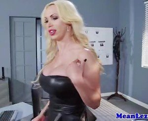 Dyke Nikki Benz punished by lady cop