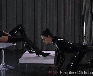 Shiny Latex on Mia and Scarlett