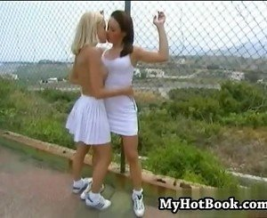 Teen lesbians  Barbwire and Monica Sweet  were out