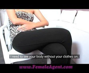 FemaleAgent Tall blonde beauty in outstanding lesbian casting