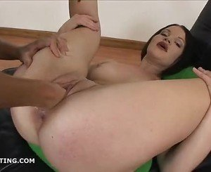 Rita forcing her fist in the tight pussy of brunette Lisa