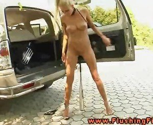 Slutty Clara G fists her gaping pussy