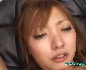 Asian Girl Fucking Her Pussy And Asshole With Toys On The Couch