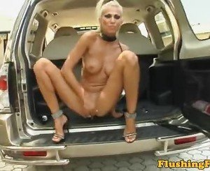 Kinky babe fist fucks her gaping pussy