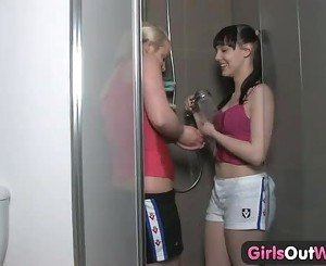 Girls Out West - Two amateur cuties in the shower