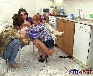 Fisted threesome lesbo