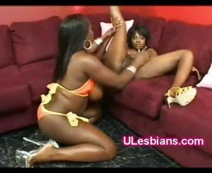 Busty thick ebony pussylicks horny black petite gf