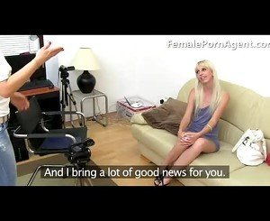 Skinny Blonde Girl First Casting