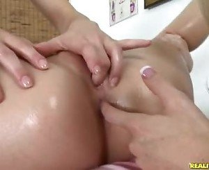 Alexis Capri Shoves Her Fingers Into Sammie Rhodes Trickling Pussy