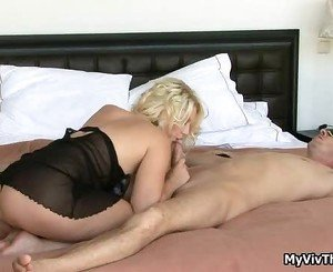 Super Hot Blond Babe Starving Foor Cock,